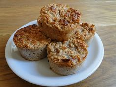 Muffins light aux flocons d'avoine et aux poires