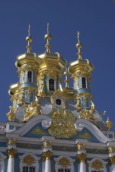 Catherine's Palace in St. Petersburg, Russia