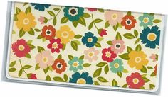 Checkbook Cover  Gooseberry Farms Floral by rabbitholeonline, $6.25