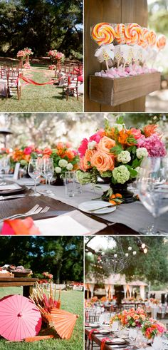 love the bright colors for a wedding