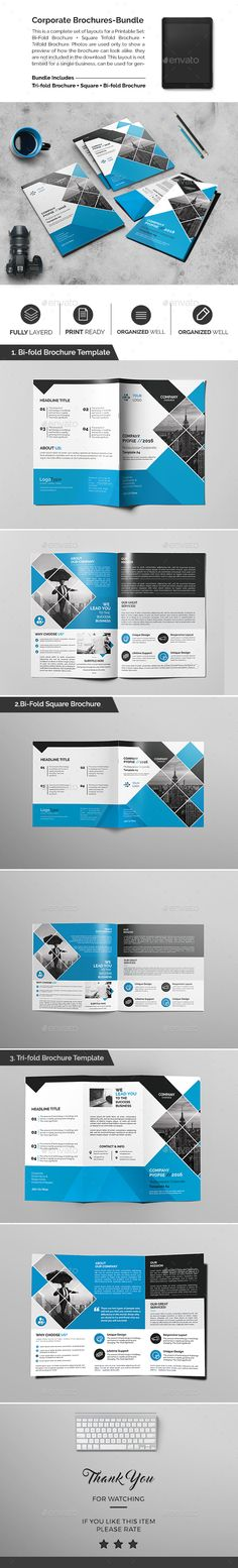Corporate Brochures Bundle 02  — PSD Template • Only available here ➝…