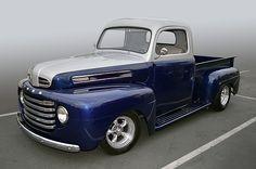 1949 Ford F-1 pickup truck looking great at the Temecula Rod Run, California