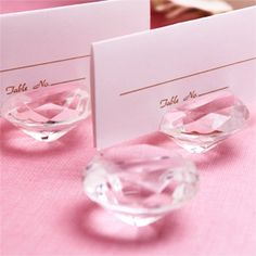 Diamond Place Card Holder adds sparkle to your wedding decor. Bonus: they can later use it as a mini picture frame.