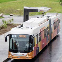 Mise en service d un bus électrique qui se recharge en 15 sec