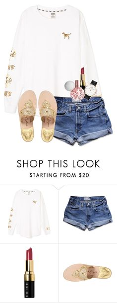 """""""Pixie dust away✨"""" by chevron-elephants ❤ liked on Polyvore featuring Victoria's Secret PINK, Abercrombie & Fitch, Bobbi Brown Cosmetics, Jack Rogers and Daniel Wellington"""