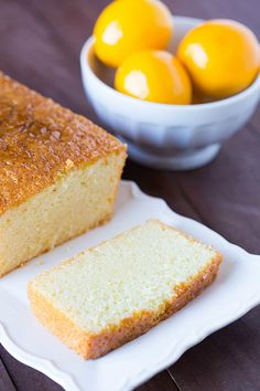 Meyer Lemon Loaf Cake - A perfect cross between sponge cake and pound cake, and an awesome way to use Meyer Lemons! Cupcakes, Cupcake Cakes, Lemon Recipes, Cake Recipes, Dessert Recipes, Baking Recipes, Food Cakes, Lemon Loaf Cake, Pound Cake