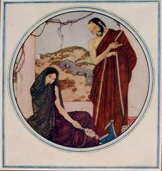 True Spartan Hearts by Edmund Dulac,1917