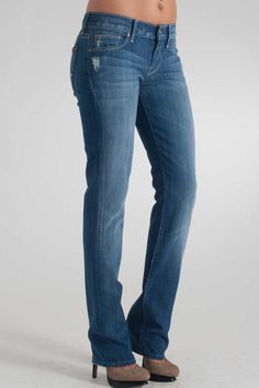7 For All ManKind Straight Leg Jean w/ Crystal in Bay Water Blue- $205.00