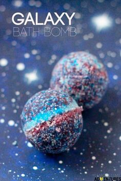 Totally awesome galaxy bath bombs!