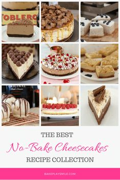 The BEST NoBake Cheesecake Recipes is part of Cheesecake recipes Best - The ultimate collection of NoBake Cheesecake Recipes including chocolate Baileys cheesecake, rocky road cheesecake, Mars Bar cheesecake, blueberry cheesecake and more! Thermomix Cheesecake, Best No Bake Cheesecake, Baileys Cheesecake, Snickers Cheesecake, Baked Cheesecake Recipe, Blueberry Cheesecake, Keto Cheesecake, Köstliche Desserts, Delicious Desserts