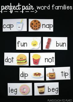 Such a fun way to practice word families. Match up the puzzles and write the pairs on the record sheet. Perfect pairs activity for Valentine's Day!
