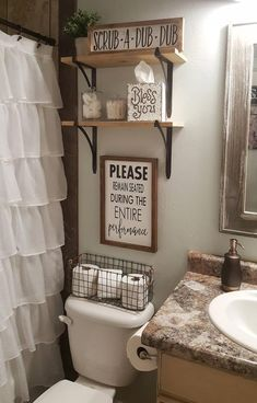 Farmhouse bathroom decorating ideas - cheap farmhouse decor ideas for decorating. IKEA Is Totally Changing Their Kitchen Cabinet System. Please Remain Seated During Entire Performance Wood Signs Diy Bathroom, Rustic Bathroom Decor, Farmhouse Bathroom Decor, Apartment Decor, Diy Home Decor, Bathroom Decor, Home Diy, Restroom Decor, Small Bathroom Decor
