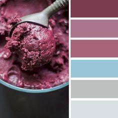 100 Color Inspiration Schemes : Grape Wine Color Palette, Blue and wine color scheme #color #colorpalette #winecolor #blue