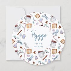 Cocoa and Cookies Hygge for the Holidays Cozy Holiday Card #christmascards #holidaycards #hyggecards #greetingcards #hygge #xmascards #hyggefortheholidays #holidayshopping #holidayseason Holiday Greeting Cards, Christmas Cards, E Cards, Hygge, Card Sizes, Wedding Stationery, Cocoa, Personalized Gifts, Decorative Plates
