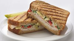 This updated panini is your ticket to a lighter Italian lunch, so go ahead and gobble away guilt free!
