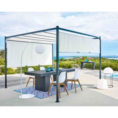 Cotton gazebo in ecru H 220cm Malaga | Maisons du Monde