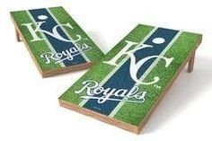 Kansas City Royals Single Cornhole Board - Field