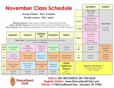 Group Dance, Dance Class, Social Dance, Class Schedule, Dance Lessons, Ballroom Dance, Tango, Houston, Competition