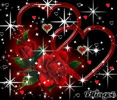 pretty red sparkels hearts - Google Search