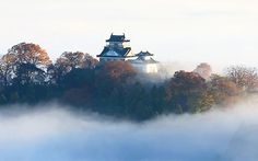 Beautiful Places In Japan, Japanese Castle, Japanese Landscape, Niagara Falls, Temple, Scenery, Resin, Photos, Anime