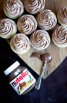 Nutella Buttercream Frosting recipe # Nutella #Frosting