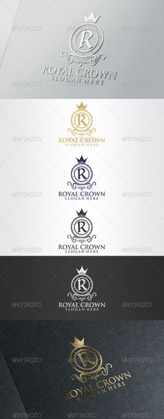 """Royal Crown Logo  #GraphicRiver          Royal Crown Logo    Overview:   CMYK Color, 100% vector  Editable & Re-sizable file in these file formats [EPS, AI, CDR]  Easy to change color & text  Letter """"R"""" editable  Used Free Font [Link Included Main Download]  Note: The mock up file is not included, that's only for preview purpose. Please any help you need Contact me and I am at your service at any time.   More of my work: bolpent Portofolio"""