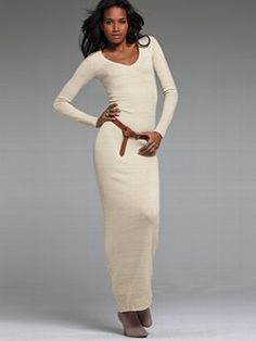 Go for maximum impact in the V-neck Maxi Sweaterdress from Victoria's Secret. The long-sleeves and v-neck keep it sophisticated and sexy. You'll love the unique marled effect and how the fabric seems to hug in all the right places.