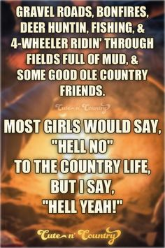 #countrygirl #countrylife #country Make sure to follow Cute n' Country at http://www.pinterest.com/cutencountrycom/