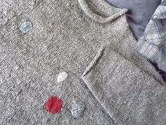 firewood-getting sweater | a friend asked me to mend the hol… | Flickr