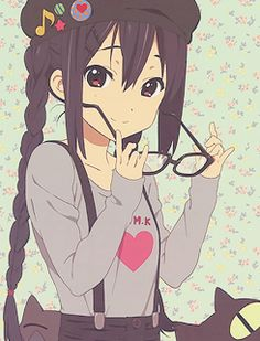azunyan with glasses.