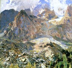 bofransson:  Val d'Aosta (also known as The Moraine) John Singer Sargent - circa 1907