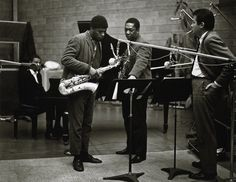 John Coltrane, McCoy Tyner, Archie Shepp & Bob Thiele, December 10, 1964. (Chuck Stewart Jazz Photographs, Courtesy of Archives Center, National Museum of American History, Smithsonian Institution. © Chuck Stewart, Reproduction Prohibited) Photos of John Coltrane Rediscovered 50 Years After They Were Shot | At the Smithsonian | Smithsonian