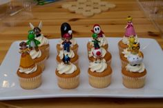 These figurines are the perfect size for awesome cupcake toppers!! - And kids can keep and take one home!!