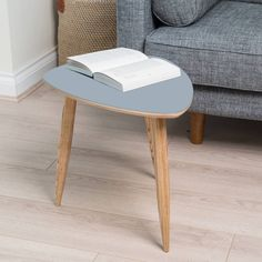 Dark Grey Pebble Table