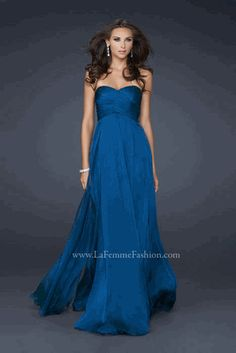 Military Ball Gown , great color! love the empire waist. deff going this style this year.