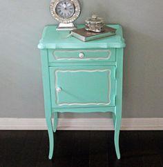 Pair of Painted Mint Green Vintage Nightstands by UptownHeirloomCo