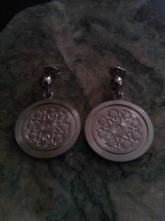 Stainless Steel Engravable Disc with Swarovski Crystals Earrings (free Swarovski Crystal Earrings, 316l Stainless Steel, Pocket Watch, Ship, Wall, Free, Accessories, Jewelry, Products