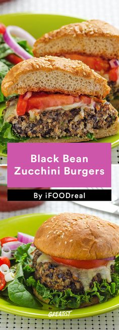 7. Black Bean Zucchini Burger #healthy #weeknight #dinners http://greatist.com/eat/clean-eating-recipes-for-busy-weeknights