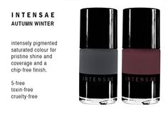 LOVE the new INTENSAE colours for this Autumn / Winter, each inspired by an iconic woman. INTENSAE nail lacquers deliver high-performance clean results using advanced non-toxic formulation. Intensely pigmented saturated colour for pristine shine and coverage. All of the INTENSAE 5-free lacquers are free from formaldehyde, toluene, DBP (dibutyl phthalate), camphor and formaldehyde resin.