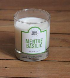 la belle mèche bougie-parfumee-menthe-basilic