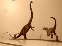 Barosaurus vs Allosaurus 1:40 by GalileoN on deviantART
