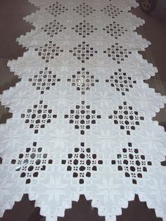 Would love to do this hardanger one day. The scariest part is cutting the threads! Otherwise, it's easy.