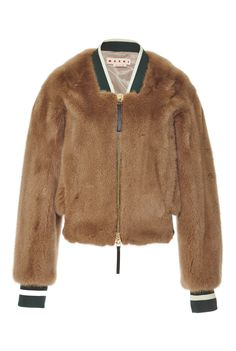 The ultimate luxurious take on athletic wear, this Marni mink fur jacket reinterprets the bomber jacket in a luscious coffee-toned mink. Brown Bomber Jacket, Mink Jacket, Fur Bomber, Blazer Jacket, Coats For Women, Jackets For Women, Jackets Uk, Outerwear Jackets, Jacket Pattern