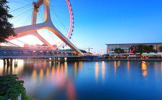 Tianjin Eye Bridge Çin Halk Cumhuriyeti.