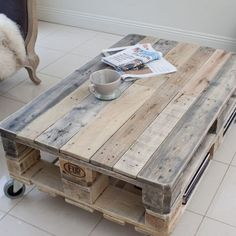 Image result for pallet coffee table