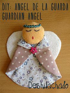 Deshilachado: Tutorial: ángel de la guarda / Tutorial: guardian angel