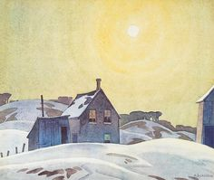 Alfred Joseph Casson (1898-1992) Emily Carr, Canadian Painters, Canadian Artists, Ontario, Franklin Carmichael, Group Of Seven Paintings, Tom Thomson Paintings, Stars And Moon, Sun Moon