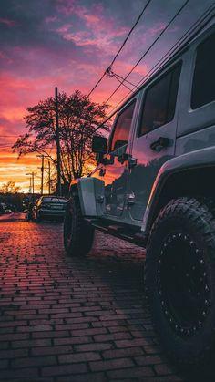 A nice Sunrise with a clean white jeep. Jeep Rubicon, Jeep Wrangler Unlimited, White Jeep Wrangler, Wrangler Tj, Jeep Cars, Jeep Truck, Jeep Jeep, My Dream Car, Dream Cars