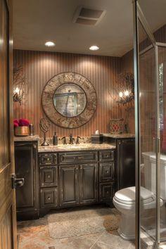 Beautiful rustic bathroom.
