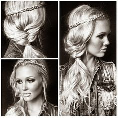 How to Chic: BOHO HAIRSTYLE INSPIRATION I would like to try something like this when my hair is longer